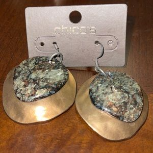 NWT Chico's dangle brass free style earrings